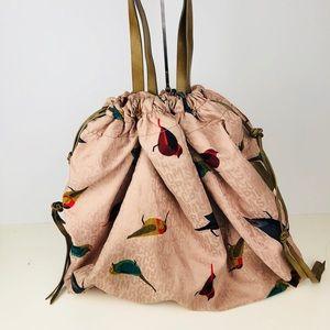 Marc Jacobs Bird Print Blush Hobo Tote Bag